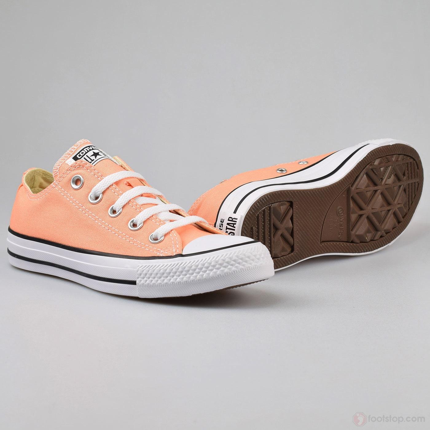Peach Converse Low Top Kicks Custom Rose Gold Sunset Apricot Swarovski  Bling Crystal Rhinestone Chuck Taylor All Star Wedding Sneakers Shoes 9e750a640