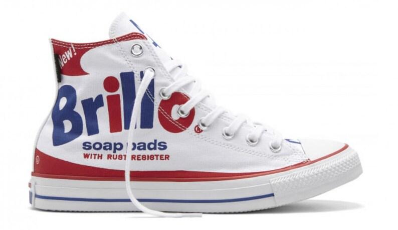 49294b3a50e6 Andy Warhol Converse High Top Collector Retro Brillo Soap Pad