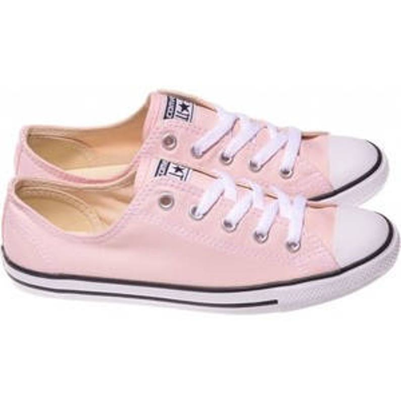 cheap for discount 71d59 41710 Pink Converse Dainty Blush Bridal Slip on Custom Bride Kicks   Etsy