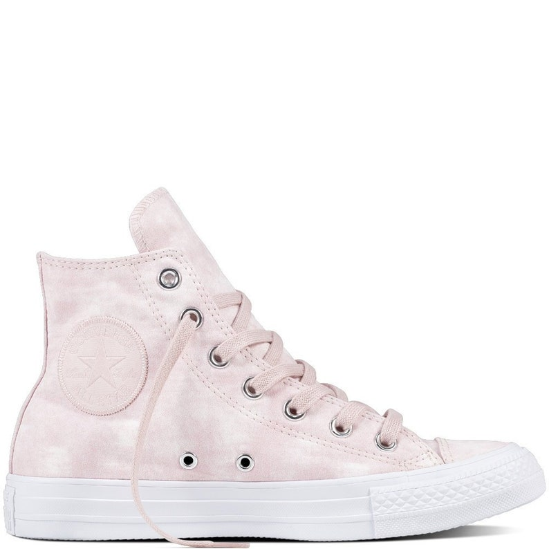 Pink Converse High Top Rose Petal Marble Wash Suede Canvas w   e74c84f0b394