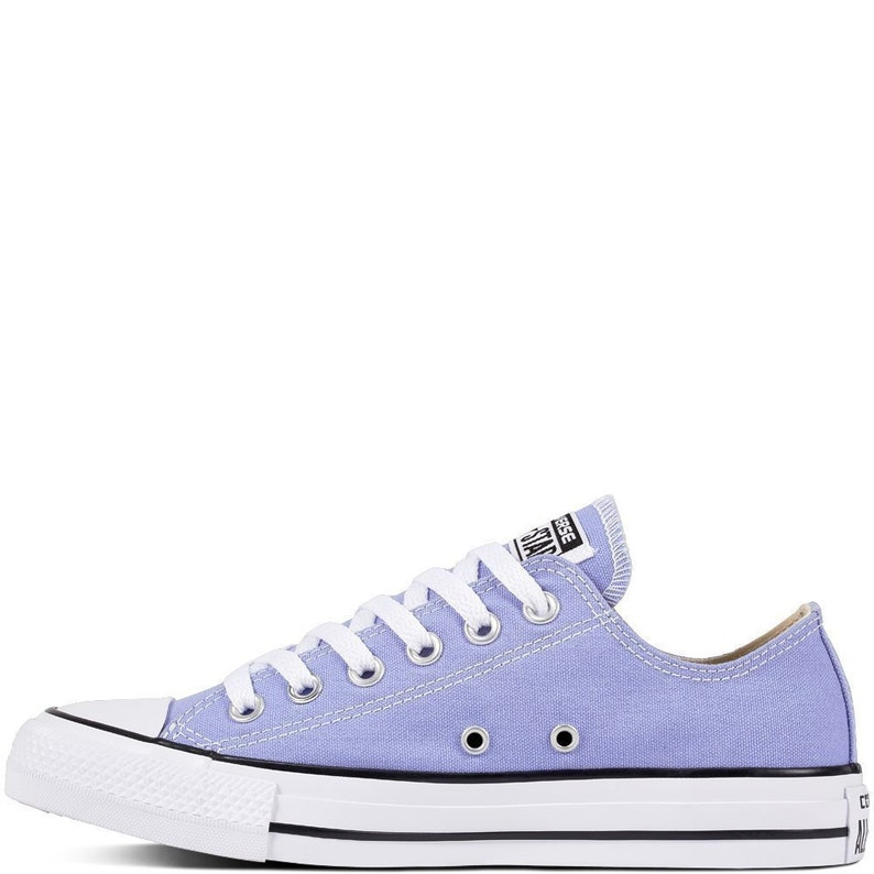Lilas Converse basse Top Twilight Robin Egg pervenche bleu toile w strass en cristal de Swarovski Chuck Taylor All Star baskets chaussures