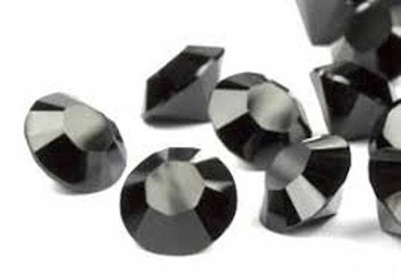 Black Swarovski Chaton Point Back 24 pieces Crystal Jet jewel gemstones pp24 3mm OR pp31 4mm size 1028 Rhinestone Elements Beads Cabochon