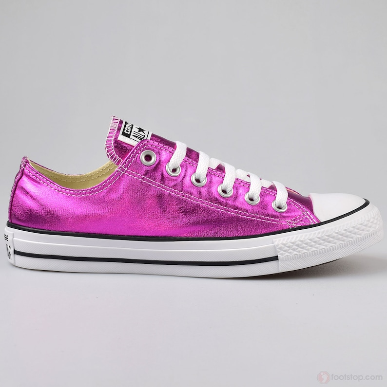 010b7596ce60 Hot Pink Converse Low Top Fuchsia Magenta Wedding Chuck Taylor