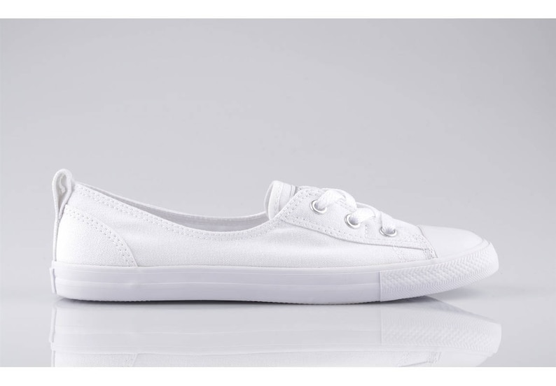 66d53f6745a7 White Converse Slip On Custom Low Top Ballet Lace Wedding