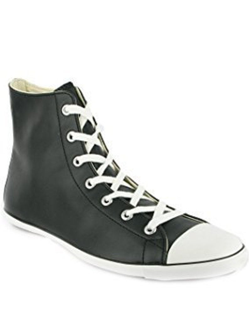 df4c9dff6643 Black Converse Leather High Top Acoustic Hi Boot Slim Rise