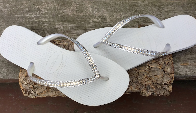 aee2c7b77bdb White Havaianas Flip Flops Slim Ivory Moonlight or Crystal