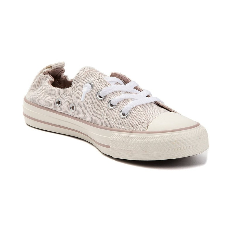 345778a27f4b Cream White Ivory Converse Slip on Shoreline Pinstripe Low Top