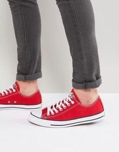 0d9c6576d2cf3 Red Converse Low Tops Cherry Canvas Custom Kicks w/ Swarovski ...