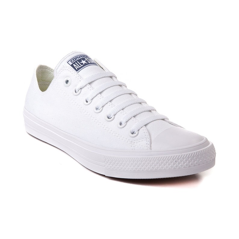 White Wedding Converse Low Top Canvas Chuck Taylor II Mono  60566f2011