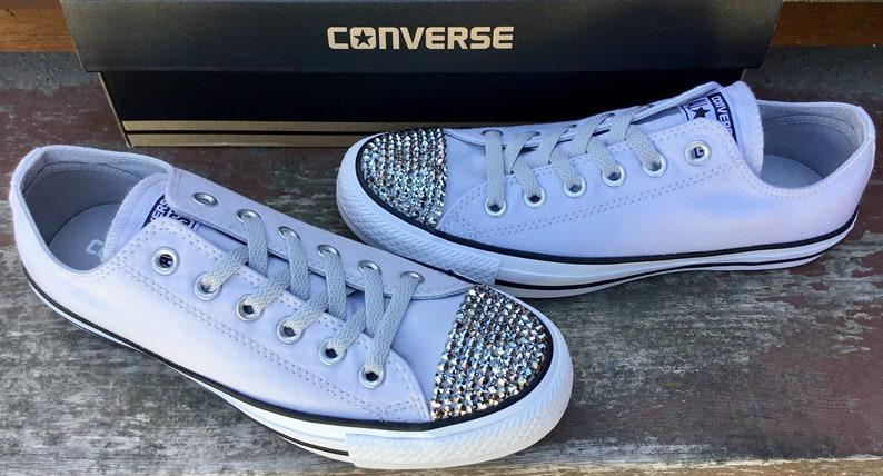 6d79895b33ca Gray Converse Grey Mono Crystal Silver Chrome Low Top Canvas