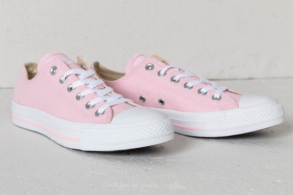 ca6677f64d56 Baby Pink Converse Bride Low Top Cherry Blossom Perforated w