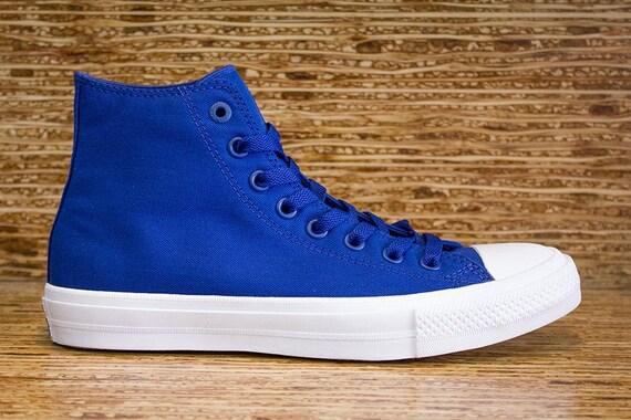 Blue Converse High Tops Mens Chuck