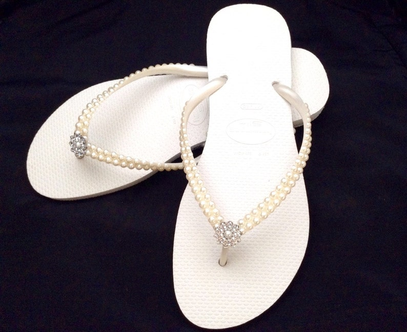 6b87ab3836383a Havaianas Slim flip flops Cream Pearls Bridal Ivory Off White