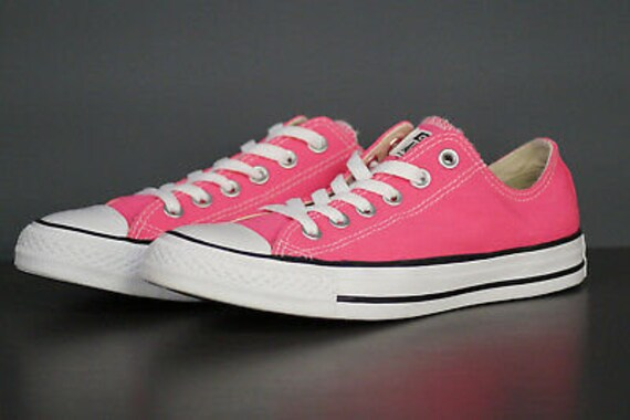 Hot Pink Converse Low Bright Rose