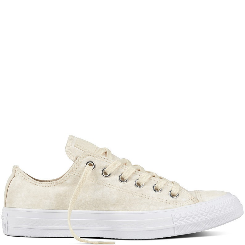 d63e89079a19 White Ivory Wedding Converse Bride Marble Wash Tan Peach
