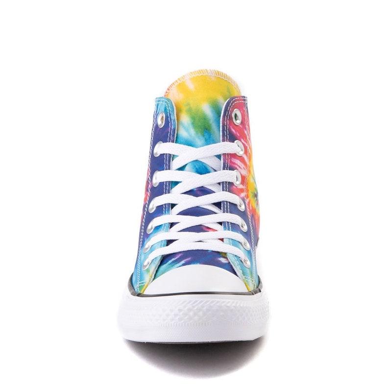 Tie Dye Converse High Tops Canvas Rainbow Custom Kicks w/ MbnGgAKn