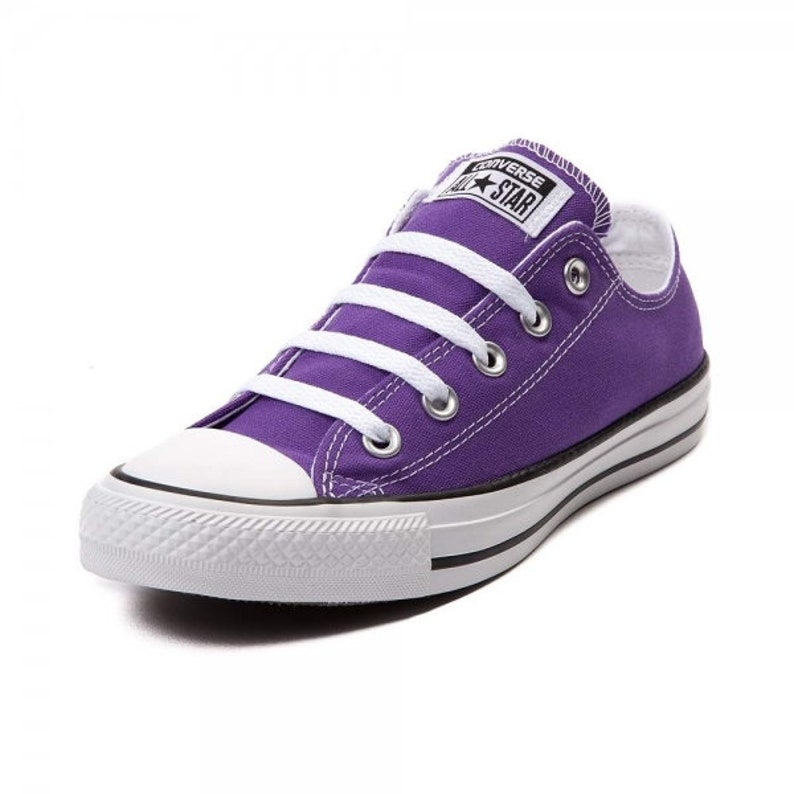 Electric Purple Converse Low Uv Uv a misura Duomo Custom Bling 4iq7xmKj