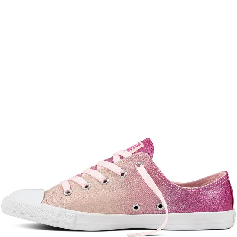 be62eccd96a3 Pink Converse Dainty low top Glitter Magenta Chuck Taylor