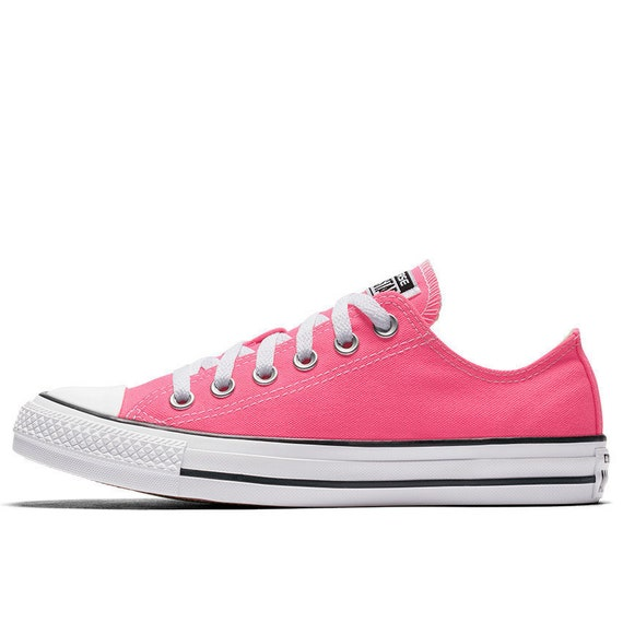 1ceee70e912e47 Pink Converse Low Top Bright Rose Pow w  Swarovski Crystal