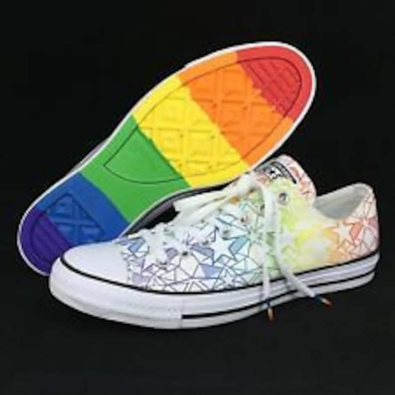 5beee0f3278a Pride Converse Low Top Rainbow Ladies 2017 Geo Star Custom
