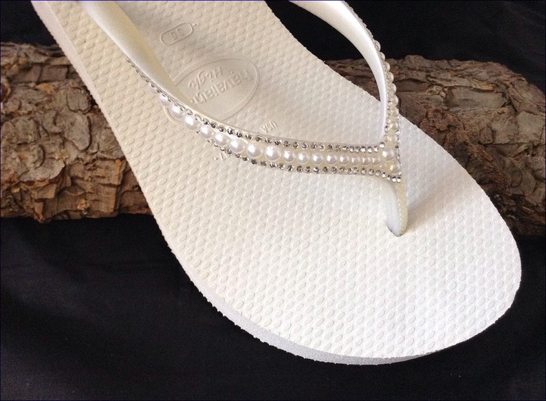 9f1103b65d7 Off White Havaianas High Wedge Heel Flip Flops 2.4 w