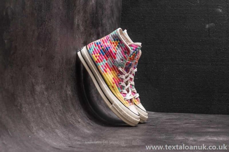 19b4f6d23f81 Rainbow Converse High Top 70s W US 8 Mara Hofman Quilted Knit ...