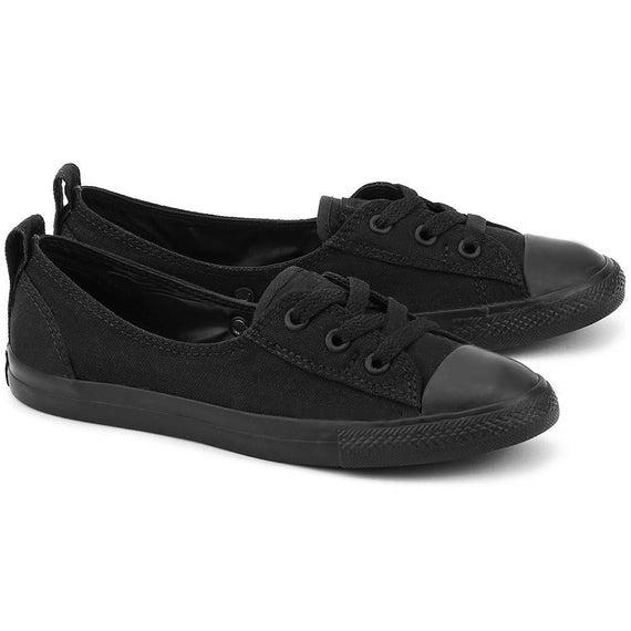 Black Converse Low Top Slip On Ballet Lace Wedding Bridal Mono Custom w/ Swarovski Crystals Chuck Taylor Rhinestones All Star Sneakers Shoes