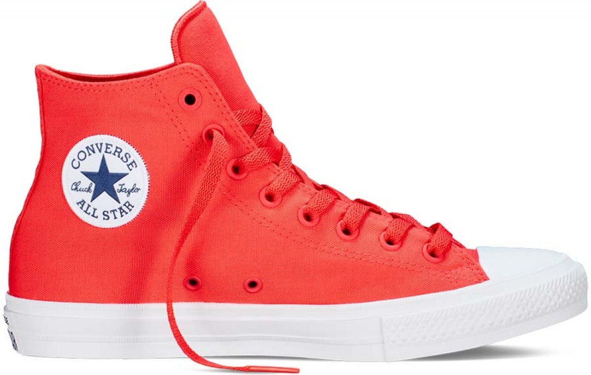 7c9e6ddfe6c2 Red Converse High Top Chuck Taylor II Mono Fire Engine Red Coral Canvas  Custom Crystal Bling w  Swarovski Rhinestone All Star Sneakers Shoes