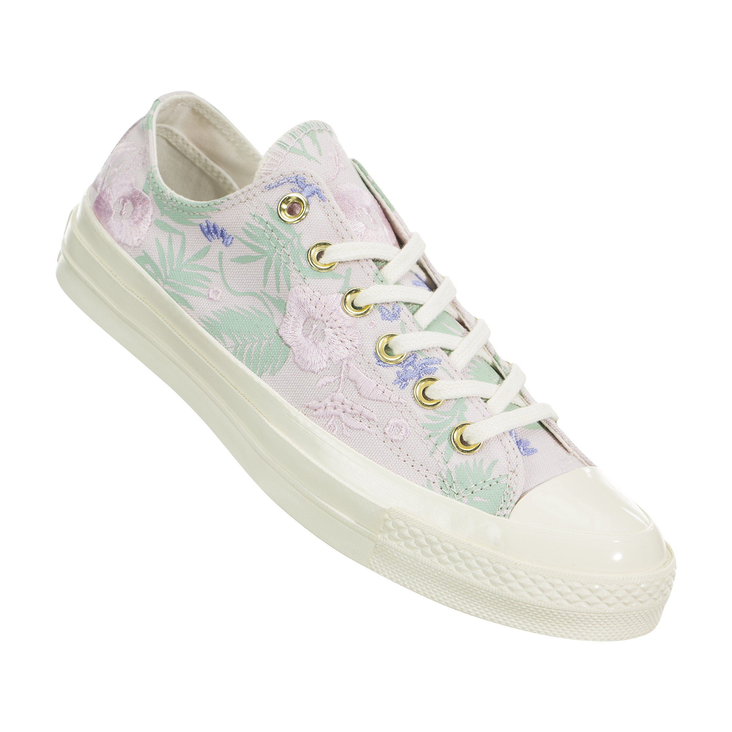 685d50a8fce5 Floral Converse 70s Low Top White Ivory Embroidery Palm Canvas w  Swarovski  Crystal Rhinestone Chuck Taylor All Star Wedding Sneakers Shoes