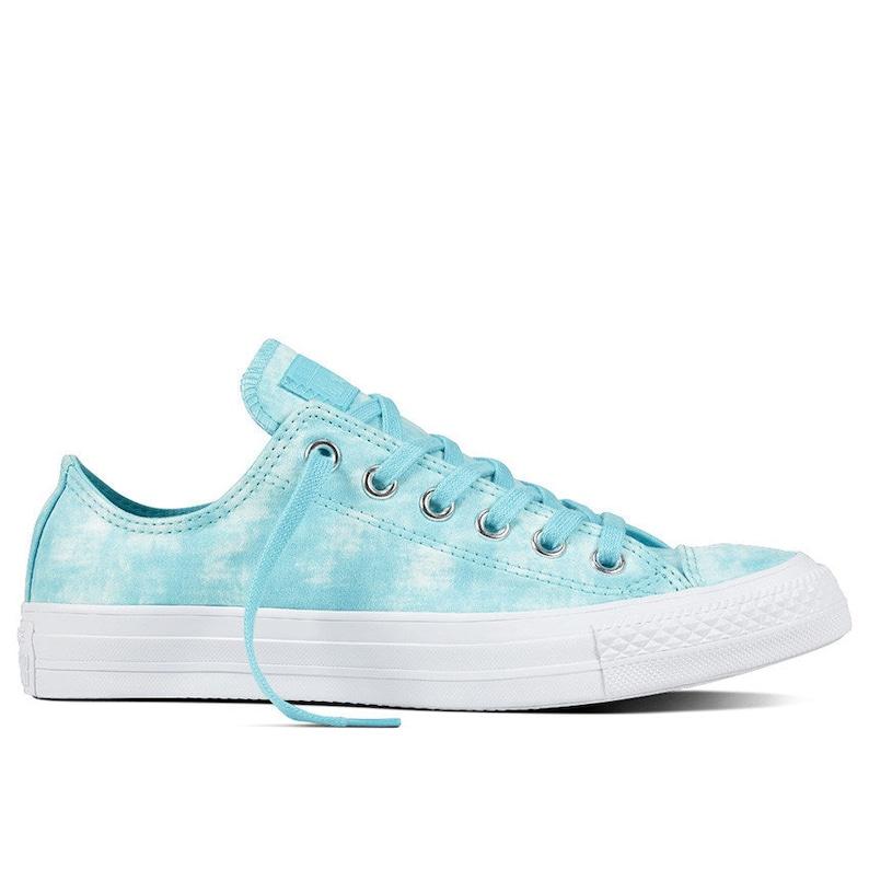 Aqua Baby Blue Wedding Converse Low Bride Shoe Marble Wash  3d3cc48cb32d