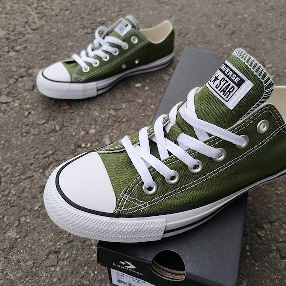 Olive dark Green Converse Renew Low