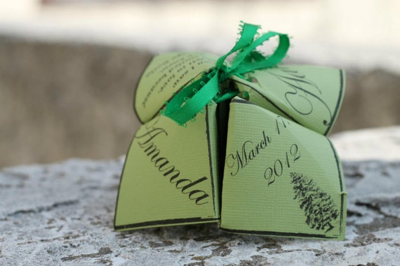 Cootie Catcher Fortune Teller Wedding Program Template