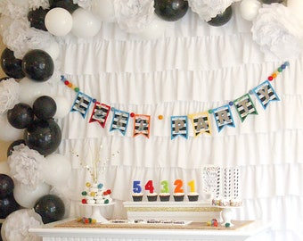 Lets Party Banner , New Years Banner , Happy Birthday Banner , First birthday boy , First birthday banner , New Years Eve decorations
