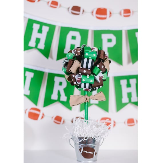 Swell Football Party Centerpiece Baby Shower Centerpiece Football Baby Shower Football Birthday Party Football Party Decorations Grad Download Free Architecture Designs Scobabritishbridgeorg
