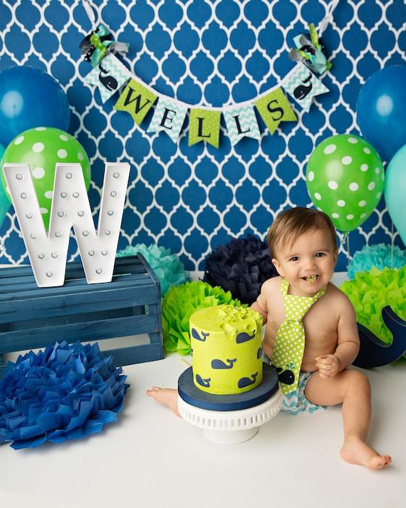 WHALE BANNER / 1st birthday boy / First Birthday Banner ...