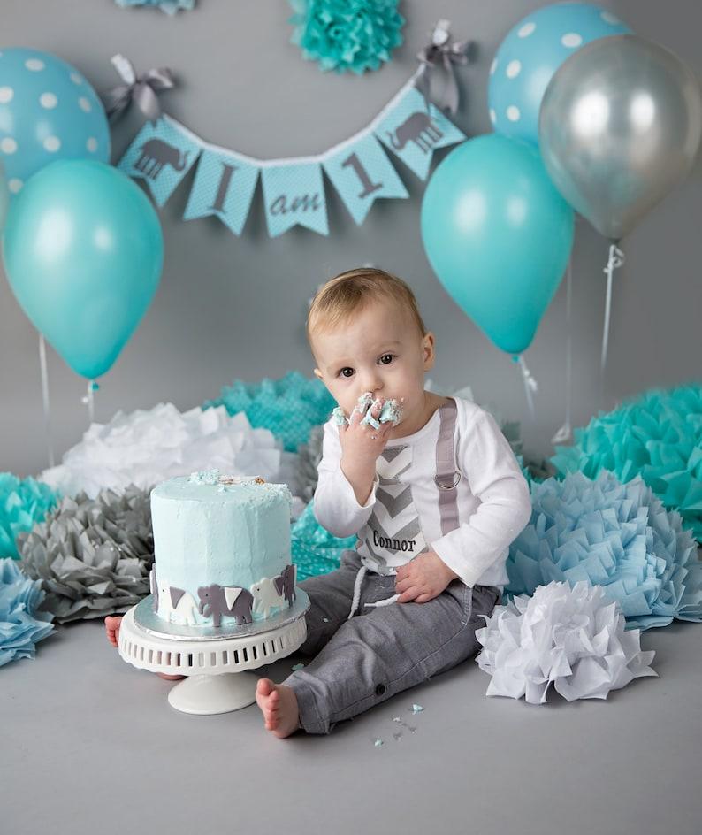 I AM ONE Birthday Banner Boy 1st Highchair