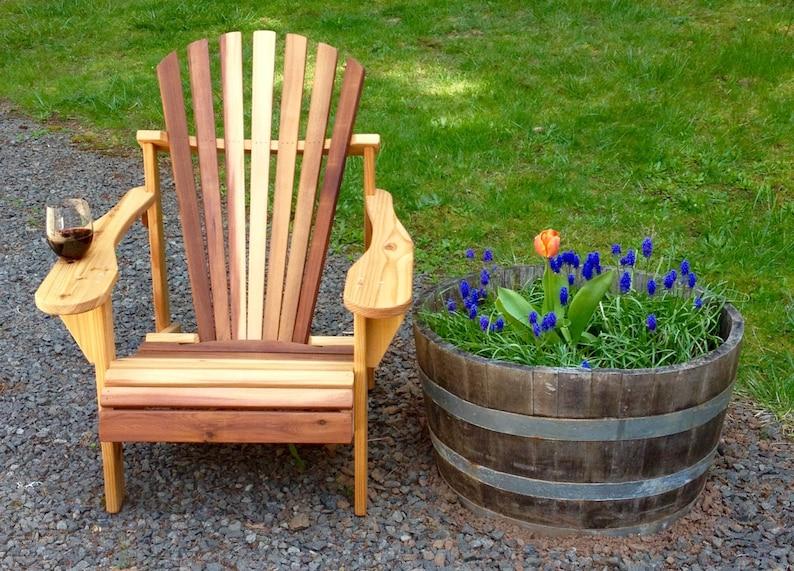 Wine Lovers Cedar Adirondack Chair