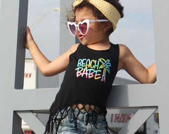 Girls Fringe Tank Aztec Texas Tank Summer Tank for girls girls bathing suit cover up beach tank State Shirt