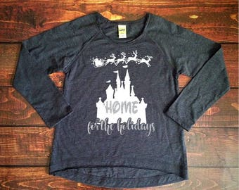 home for the holidays ladies disney long sleeve shirt christmas disney ladies disney shirt womens disney shirt family disney