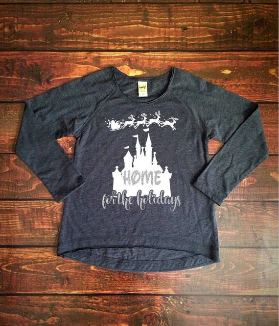 Home for the Holidays Ladies Disney Long Sleeve Shirt  a909e81ae7