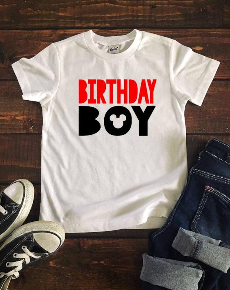 Birthday Boy Mickey T Disney Shirt Kids Youth