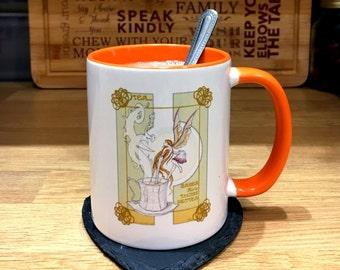 Cute Mug For Her, Mothers Day Gift, Fairy Mug, Mug for Friends, Unique Teacup, Unique Coffee Mug, Illustrated Mug, Gift for Her, Tea Lover,