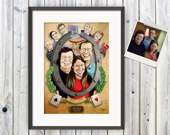 Family Portrait, Customised Portrait, Portrait for Him, Portrait for Her, Steampunk Portrait, Fathers Day, Mothers Day, Birthday Gift