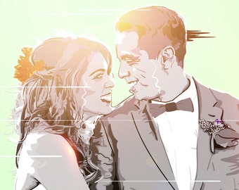 Custom Portrait, Couples Portrait, Christmas Gifts, Vector Portrait, Personalised Picture, Anniversary gift, Wedding gift, Christmas Gift,