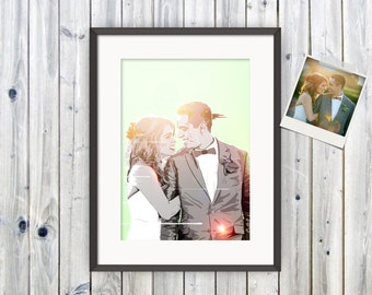 Custom Portrait, Couples Portrait, Father's Day, Valentines Gift, Personalised Picture, Anniversary gift, Wedding gift, Gift For Her