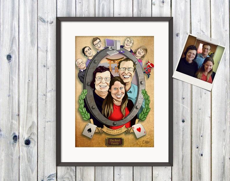 Family Portrait Customised Portrait Portrait for Him image 0