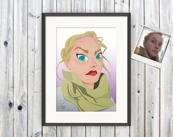 Cartoon Portrait, Custom Portrait, Birthday Gift, Anniversary Gift, Anime Style Portrait, Cartoon from Photo, Comic Style Portrait, Manga