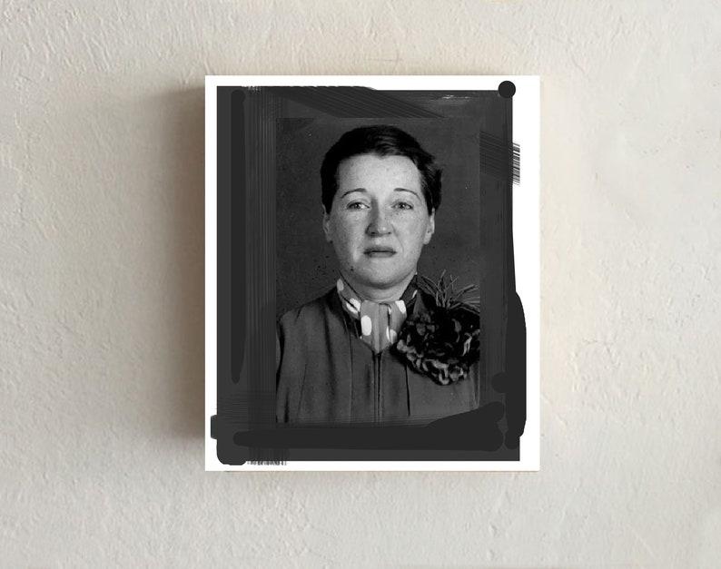 Vintage Prostitute, Lenticular Mugshot: Anna Labelle