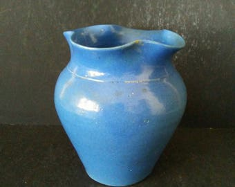Zanesville Stone Ware Ruffle Edge Vase