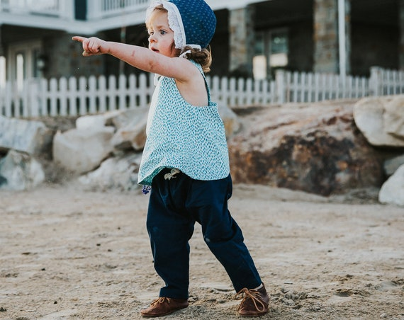 Toddler Pants - Unisex Clothing - Organic Clothing - Minimal Style - Size 18-24months - Conscious Clothing - Cozy Baby pants